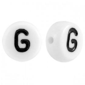 Acryl letterkraal rond G