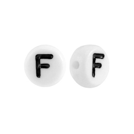 Acryl letterkraal rond F