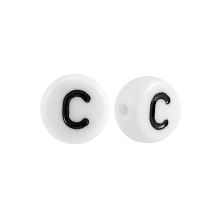 Acryl letterkraal rond C