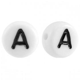 Acryl letterkraal rond A