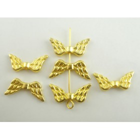 Metalen spacer gold Angel wings 23x7mm