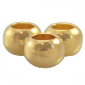 DQ Metalen spacer gold 4x2.5mm