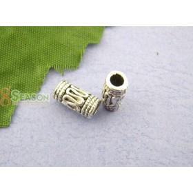 Metalen spacer zilver Tube wire 4x10mm