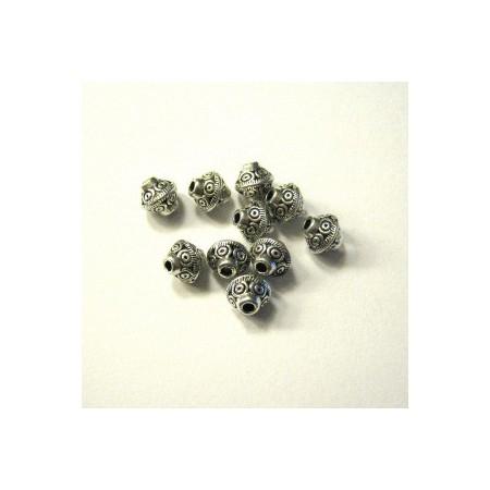 Metalen spacer zilver Bicone circle 6x6mm