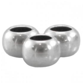 DQ Metalen spacer zilver 4x2.5mm