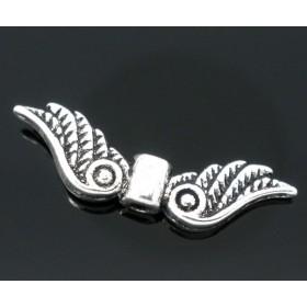 Metalen spacer zilver Angel wings 23x7mm