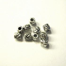 Metalen spacer zilver Tube knot 5x5mm