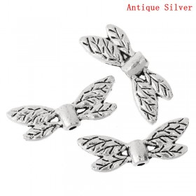 Metalen spacer zilver Dragonfly wings 22x8mm