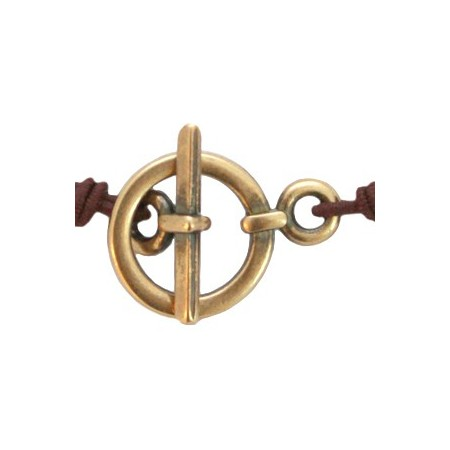 DQ metaal kapitelslot Antiek brons (nikkelvrij) 19 x 13 mm