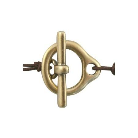 Kapitelslot van DQ metaal 16.5 x 18 mm Antiek Brons (nikkelvrij)