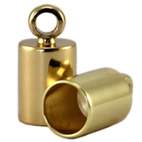 DQ eindkapje 4 mm DQ Gold plated duurzame plating