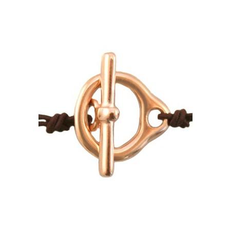 Kapitelslot van DQ metaal 16.5 x 18 mm Rosé goud (nikkelvrij)