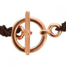 DQ metaal kapitelslot Rosé goud (nikkelvrij) 19 x 13 mm