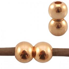 DQ metaal magneetsloten voor 2mm leer Rosé goud