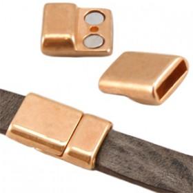 DQ metaal magneetslot (voor DQ leer plat 10mm) Rosé goud (nikkelvrij)
