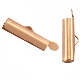 Schuifeindkapjes 15.5x 6mm Rosé goud (nikkelvrij)