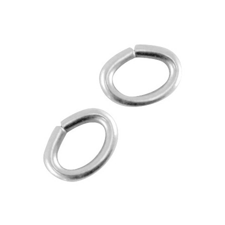 DQ metaal buigring ovaal Antiek zilver (nikkelvrij)
