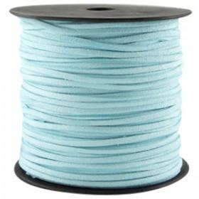 Imi suède 3mm Aquamarine blue