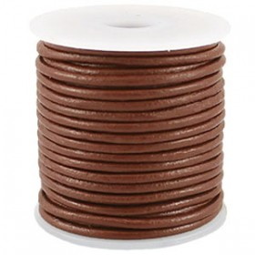 DQ leer rond 2 mm Sable brown