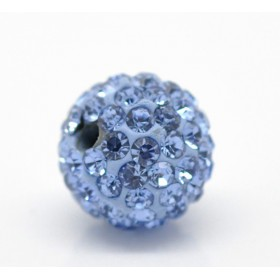 Czech rhinestone beads 10mm Light sapphire