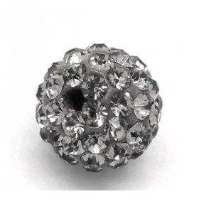 Czech rhinestone beads 10mm Hematite