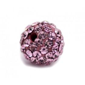 Czech rhinestone beads 8mm Pink