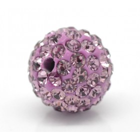 Czech rhinestone beads 10mm Light amethyst