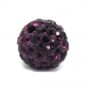 Czech rhinestone beads 8mm Amethyst