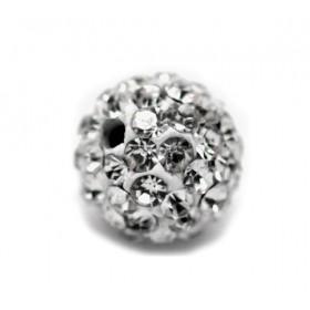 Czech rhinestone beads 8mm Crystal