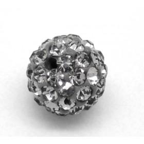 Czech rhinestone beads 8mm Hematite