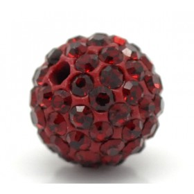 Czech rhinestone beads 10mm Dark Siam