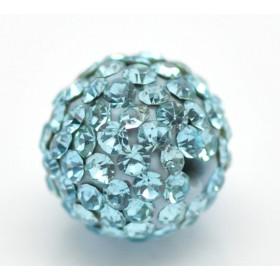 Czech rhinestone beads 10mm Aquamarine
