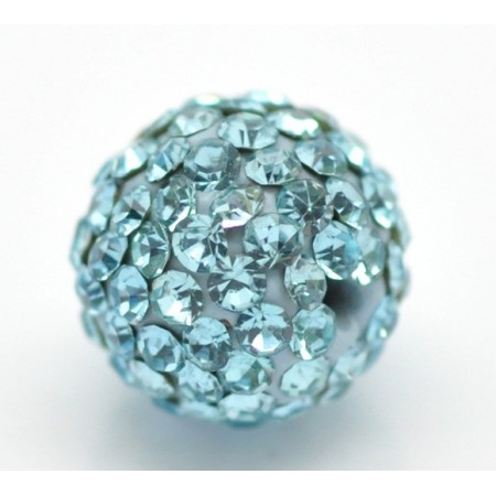 Czech rhinestone beads 10mm Aquamarine