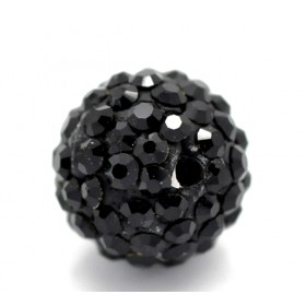 Czech rhinestone beads 10mm Black