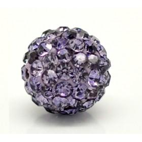 Czech rhinestone beads 10mm Tanzanite