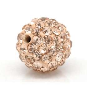 Czech rhinestone beads 10mm Champagne