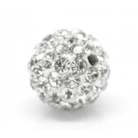 Czech rhinestone beads 10mm Crystal
