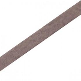 DQ leer suède plat 5mm Dark vintage brown