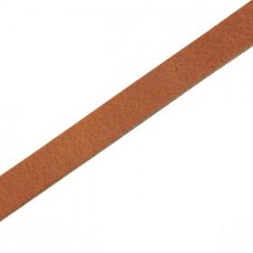 DQ leer suède plat 5mm Dark cognac brown