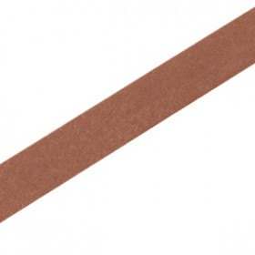 DQ leer suède plat 10mm Rust brown