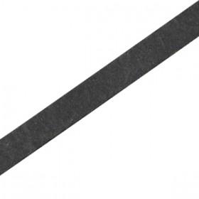 DQ leer suède plat 5mm Vintage black
