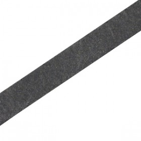 DQ leer suède plat 10mm Vintage black