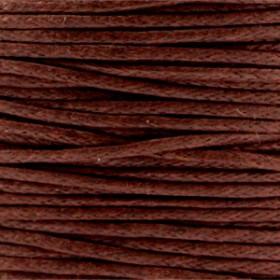 Waxkoord 1.0mm Donker bruin