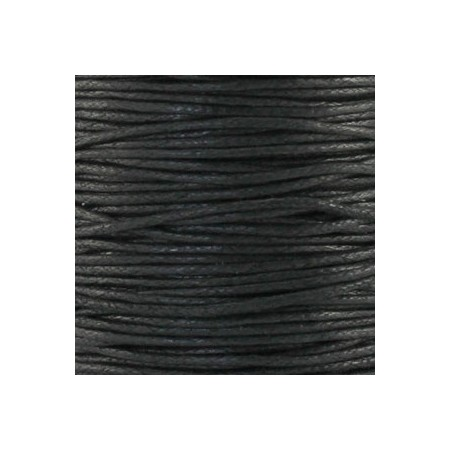 Waxkoord 1.0mm Zwart