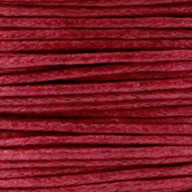 Waxkoord 1.0mm Ruby red