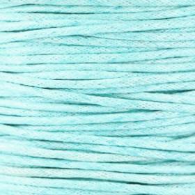 Waxkoord 1.5mm Light aquamarine blue