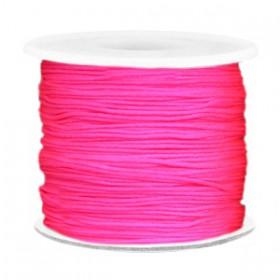 Macramé draad 0.7mm Neon pink
