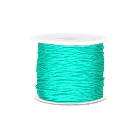 Macramé draad 0.7mm Turquoise green