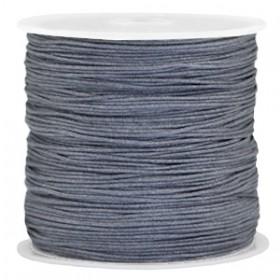 Macramé draad 0.7mm Dark grey