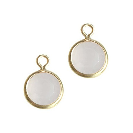 DQ facethanger Goud White opal